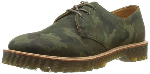 Dr. Martens Unisex 1461 PW 3-Eye Shoe,Brown Camo Suede,6 UK/