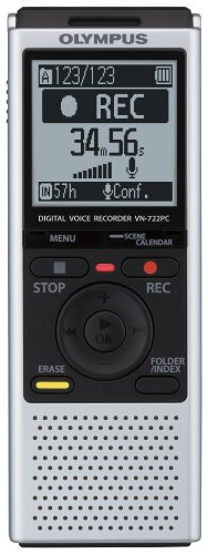 Olympus VN-722PC Voice Recorders, 4 GB Built-In-Memory from Olympus