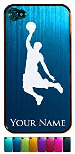 Engraved Aluminum iPhone 4/4S Case/Cover - BASKETBALL PLAYER SLAM DUNK - Personalized for FREE (Click the CONTACT SELLER link after purchase to tell us your case color and engraving request)