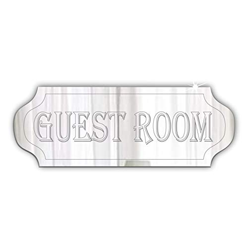 Mirrors-Interiors GUEST ROOM Door Sign- Plaque - Signage - Personalised - Any Name - Home Decor - Office - Hotel