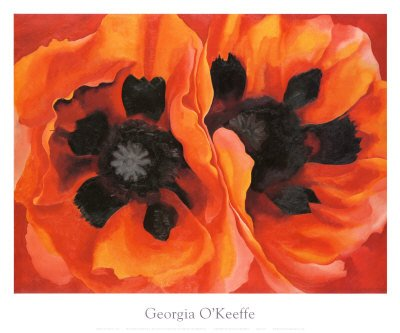 Oriental Poppies by Georgia O'Keeffe - 25 x 30 inches - Fine Art Print / Poster
