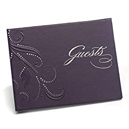 Hortense B. Hewitt Wedding Accessories Purple Swirl Guest Book