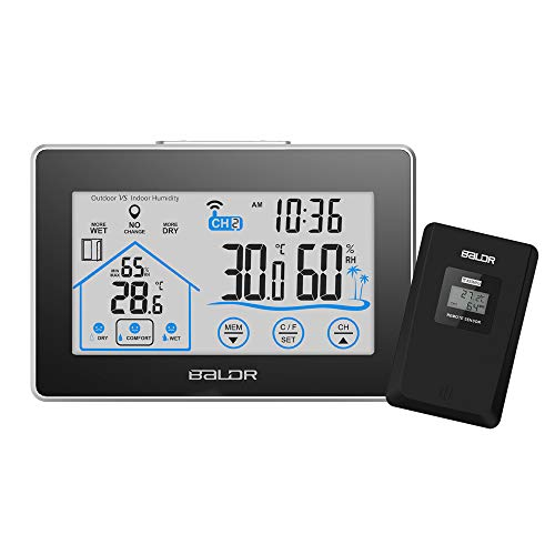 Realteck Weather Station, Indoor Outdoor Thermometer Temperature Humidity Monitor...