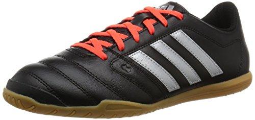 adidas Gloro 16.2 IN, Herren Fußballschuhe, Schwarz (Core Black/Silver Metallic/Solar Red), 47 1/3 EU