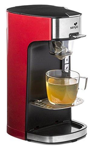 SENYA Tea Time SYBF-CM013 Elektrische theepot voor losse thee of theezakjes, met uitneembare theezeef, 1400 W