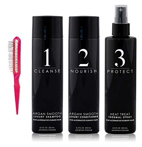 Jon Renau Human Hair Care (Shampoo, Conditioner, Thermal Spray)
