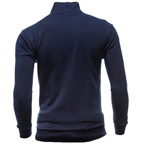 (Men's Tracksuit Men Assassins Creed Hoodies,Kintaz Men's Autumn Winter Leisure Sports Turtleneck Zipper Sweatshirts Slim Tops Jacket Coat (Navy, XL(US)