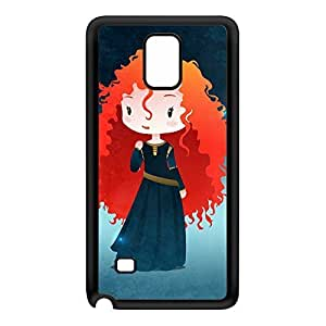 Princesses - Merida Black Silicon Rubber Case for Galaxy Note 4 by DevilleArt + FREE Crystal Clear Screen Protector