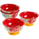 """The Pioneer Woman Blossom Jubilee 6"""" Footed Bowl Set, Set of 4"""