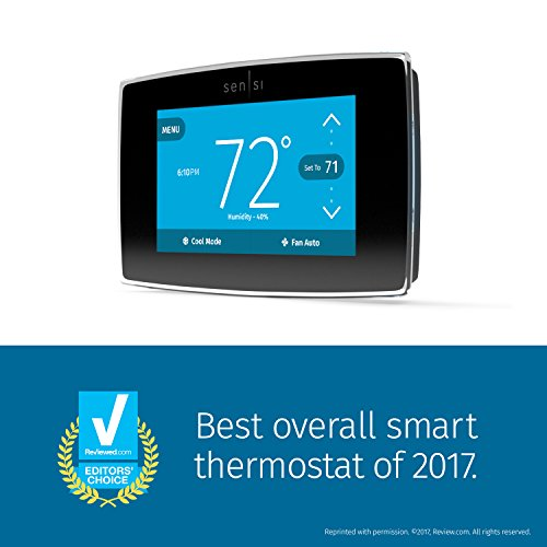 Emerson Sensi Touch Wi-Fi Thermostat with Touchscreen Color Display for Smart Home, ST75, Works with Alexa by Emerson Thermostats (Image #1)