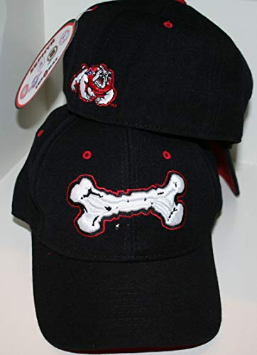 Zephyr Fresno State University FSU Bulldogs Black XHS Bone Youth Boys/Girls/Child Fitted Hat/Cap Size 6 7/8 - Fresno State Fitted Cap