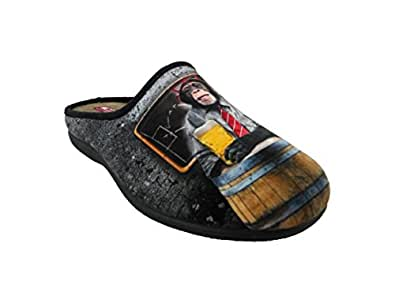Zapatillas de estar por Casa para Hombre, mod.588. Calzado Made in Spain, Garantia de Calidad. (39)
