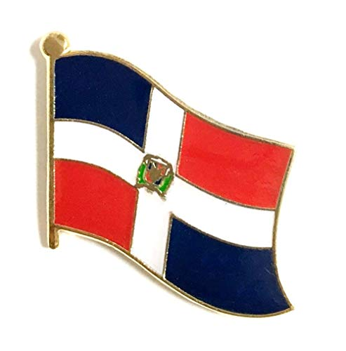 (International Single, Double and Friendship Flag Lapel Pins, Enamel Tie & Hat Pin Badges for Over 100 Countries (Dominican Republic, 3 Flag Lapel Pins))