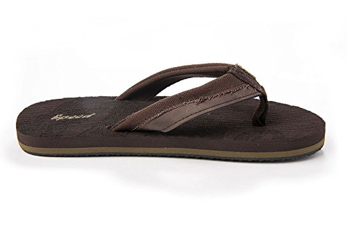 Just Speed Flip-Flops Sandals For Boys Cool Soft Slide On Comfortable Light Casual Travel Indoors Brown 4bCXFgR0x