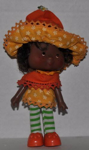 Vintage Orange Blossom (1981) (Doll, Hat, Dress, Tights, & Shoes) - Strawberry Shortcake (Retired) Doll - Collectible Replacement Toy - Loose (OOP Out of Package & Print)