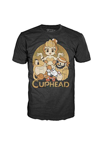 (Pop! Tees: Cuphead and Bosses Adult T-Shirt Large Black)
