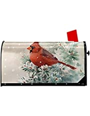 ATEDEANEI Christmas Mailbox Covers Winter Magnetic Wraps Post Box Cover Standard Size for Outdoor Garden Yard Decor 21x18 inch,Snow Bird