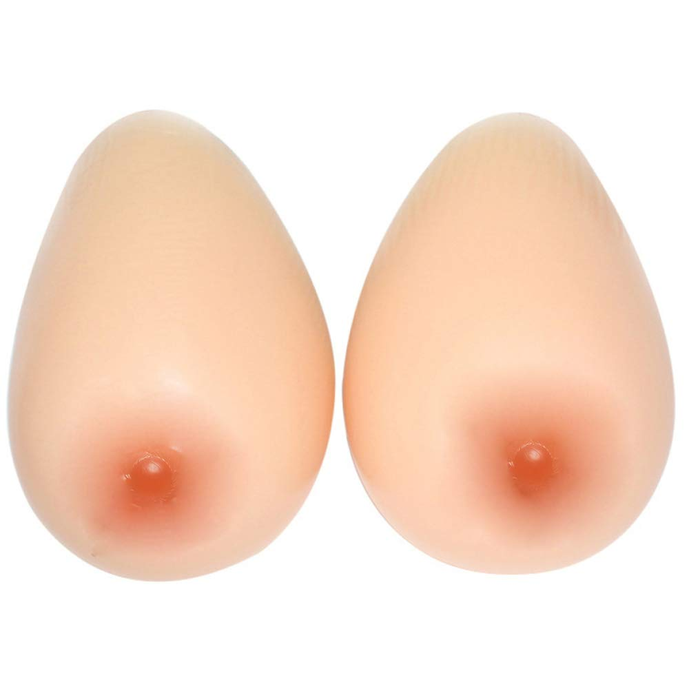 Skincolor Breast Prosthesis Medical Silicone Breast False Boobs Fake Breasts Fake Breast Enhancer Pseudomother 1 Pair Round,Skincolor2XL2.6Lb Pair