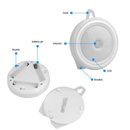 BESTEK LED lámpara Sensor de Movimiento para armario / pasillos / coche/viaje, puede sobre la mesa , suspensión o con adhesivo (lámpara * 1pcs): Amazon.es: ...