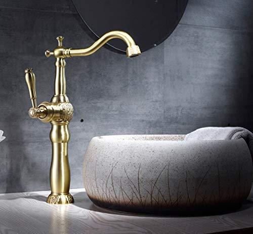 Marcu HOME Taps European Basin Carved Faucet Hot And Cold Copper Retro American Bathroom Above Counter Basin Pure Copper Antique Faucet C