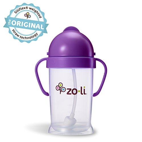 9 Ounce Sippy Cup (ZoLi BOT XL Straw Sippy Cup - Purple 9 oz)