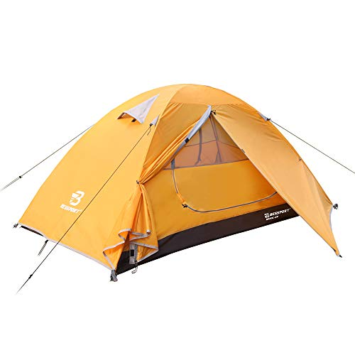 Bessport Camping Tent 2-Person Lightweight Backpacking Tent Waterproof Two Doors Easy Setup Tent for Outdoor, Hiking Mountaineering Travel (Autumn Blaze)