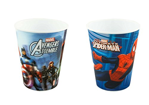 Marvel Avengers12oz (354 ML) 3D Holographic Tumbler, Styles May Vary, 2-pack