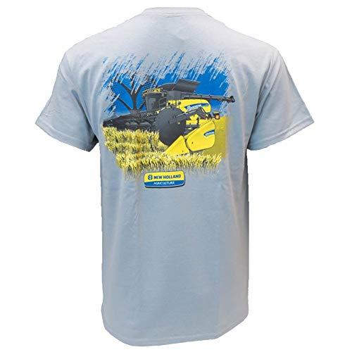 New Holland Combine Charcoal Short Sleeve T-shirt