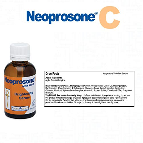 NEOPROSONE SERUM 30ML - FORMULATED TO FADE DARK SPOTS AND TO PREVENT SKIN DISCOLOURATION, WITH ALPHA ARBUTIN COMPLEX AND VITAMIN C