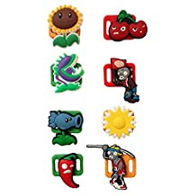Plants Vs. Zombies Shoelace Decoration Clips 8 Pcs Set #1