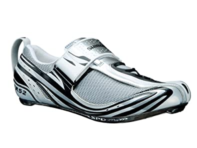 SH-TR52 Men's Triathlon Cycling Shoe White/Black 43