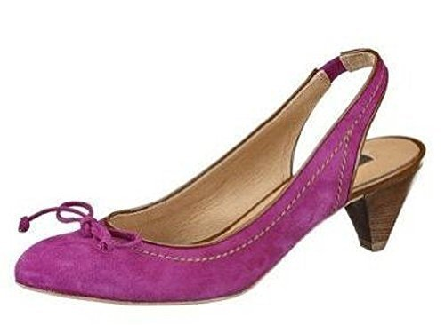 Sling Court shoes of quality Leather from Zinda - Violet Violet zUafgy