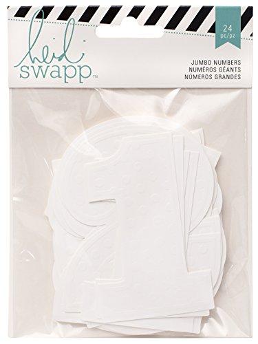 American Crafts 24 Piece Heidi Swap Mixed Media Embellishments Embossed Jumbo ()