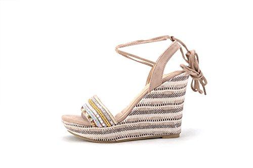 Lisa Wrap Nude Wedge Lady Platform 6 Sandal Mila Ankle pqZHCxnAw