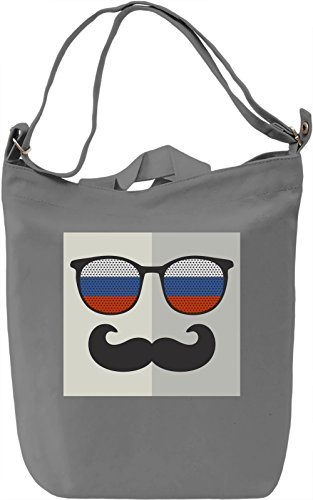 Flag Eyeglasses Borsa Giornaliera Canvas Canvas Day Bag| 100% Premium Cotton Canvas| DTG Printing|