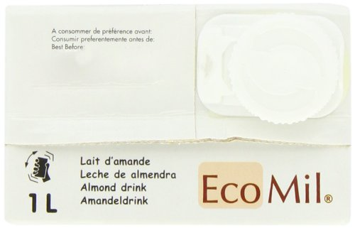 Amazon.com : Ecomil Organic Almond Natural Drink 1 Litre (Pack of 3) : Grocery & Gourmet Food