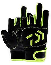 3-vinger vingerloze vishandschoenen zeilhandschoenen groen zwart met bedrukte palm voor vissen jacht zeilen kajakken