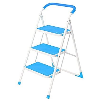 Awe Inspiring Amazon Com Step Stool Step Ladders With Handrail 3 Step Alphanode Cool Chair Designs And Ideas Alphanodeonline