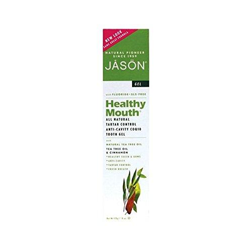 Anti-Cavity & Tartar Control Toothpaste Gel, Tee Tree Oil & Cinnamon, 6 oz. (Packaging May Vary) (Jason Healthy)