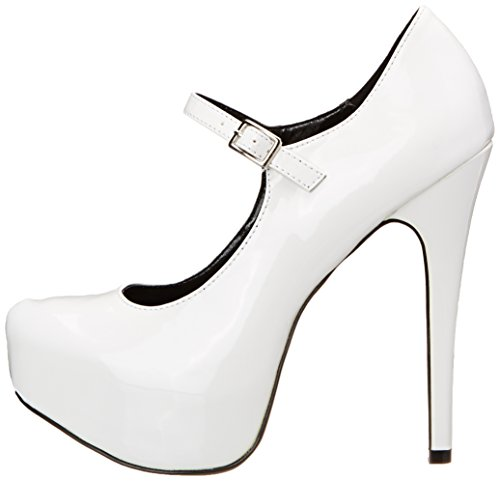 Platform Patent wpat The Heel Polyurethane White Kissable Women's Pump 71 Highest wqwO1zYR