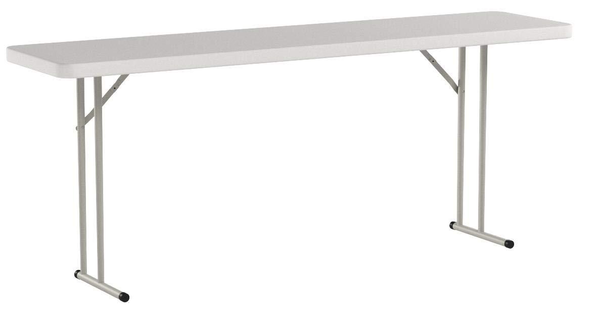 Flash Furniture 18''W x 72''L Granite White Plastic Folding Training Table by Flash Furniture