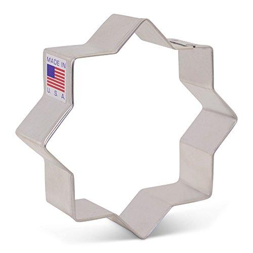 (8 Point/Islamic Star Cookie Cutter - 3.5 Inch - Ann Clark - US Tin Plated Steel)