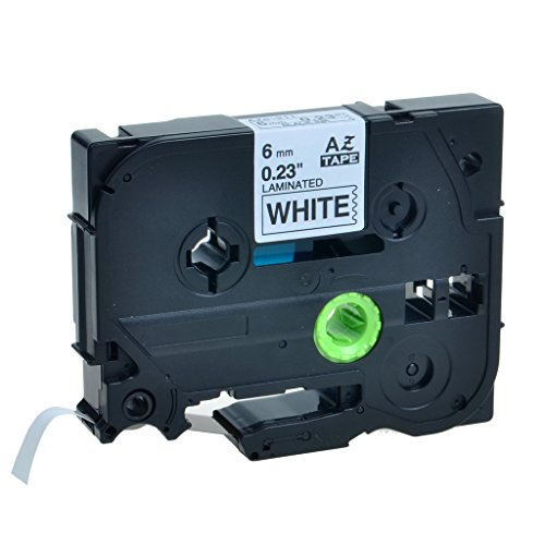Free GREENCYCLE 1 Pack Laminated Tape Black on White,6mm Tz211 Label Tape Compatible for Brother P-Touch Label Makers & Printers