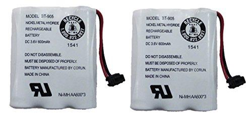 Bt 905 Cordless Phone Battery (Uniden BT-905 Rechargeable Cordless Handset Phone Battery 3.6V 600mAh NiMH (2...)