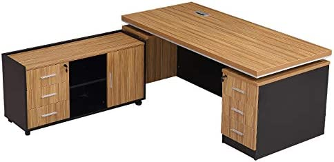 Computer Desk Manager Office Furniture Simple Modern boss Desk and Chair Combination Staff Single Computer Desk Executive Desk