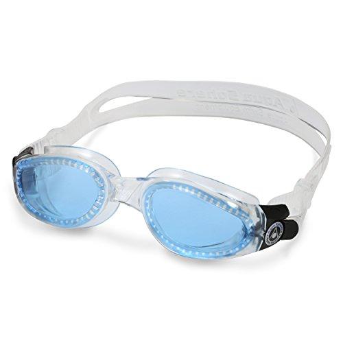 Aqua Sphere Kaiman Swim Goggle, fabriqué en Italie transparent-bleu