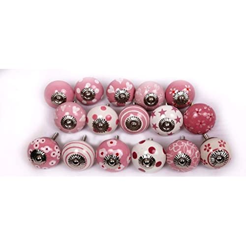 Glitknob 10 Knobs Colorful Hand Painted Ceramic Knobs Cabinet Drawer Pull