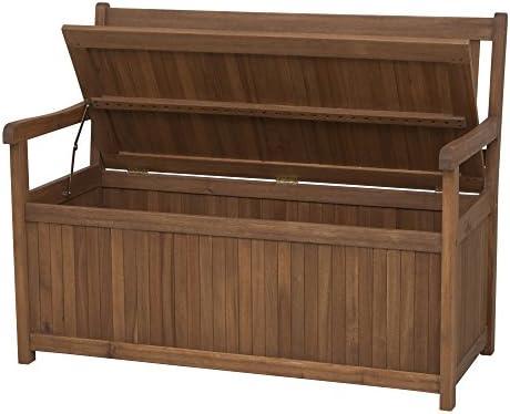 Siena Garden 800520 Melton - Banco (Madera de Acacia y Acero galvanizado, 2 plazas, con cajón de almacenaje): Amazon.es: Jardín