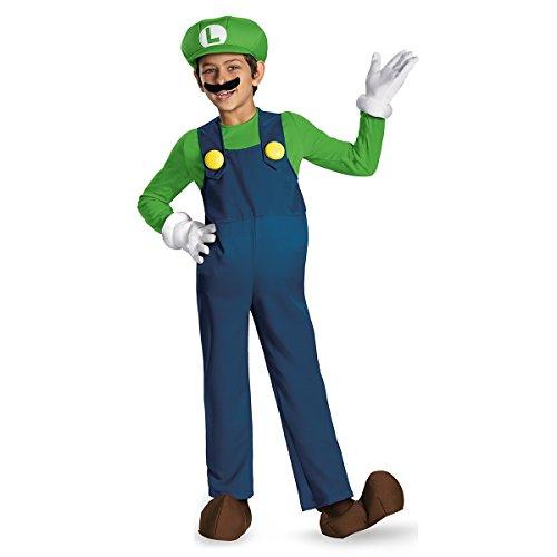 Luigi Costume Boy (Nintendo Super Mario Brothers Luigi Prestige Boys Costume, Small/4-6)