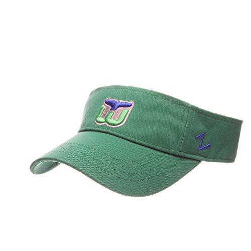 hartford-whalers-green-velcro-visor-hat-nhl-golf-cap-mens-adjustable-one-size